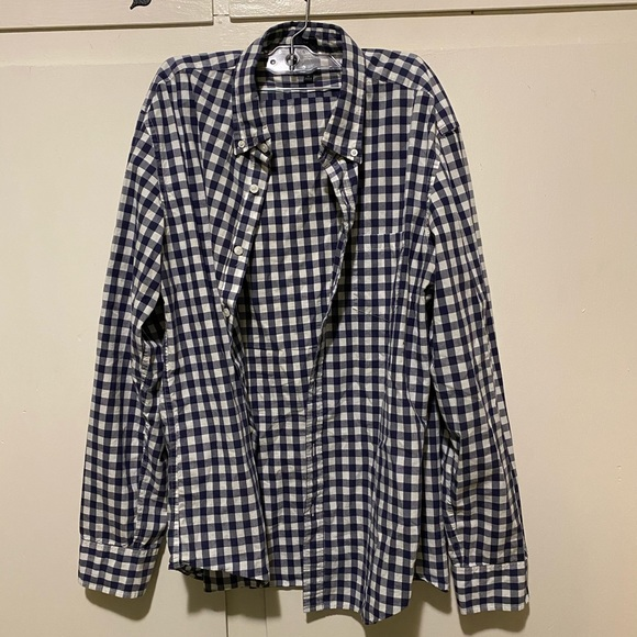 J. Crew Other - J crew blue plaid button up, size xl slim